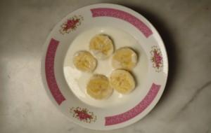 Yogur y plátano